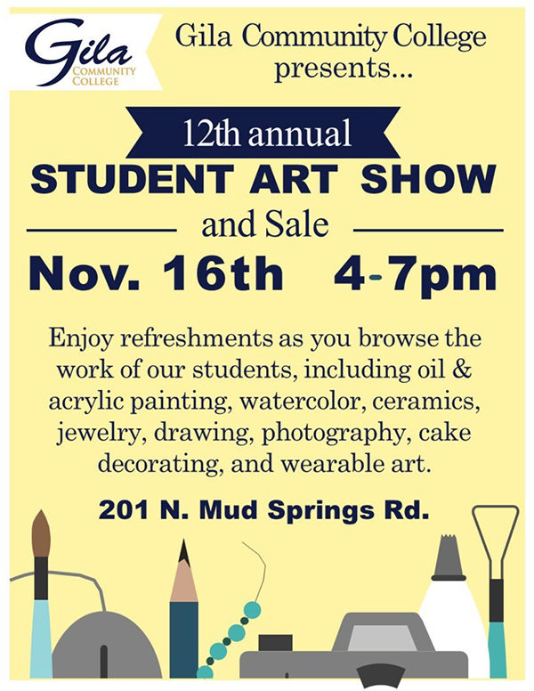 Gcc Calendar.Gcc 12th Annual Student Art Show Calendar Paysonroundup Com