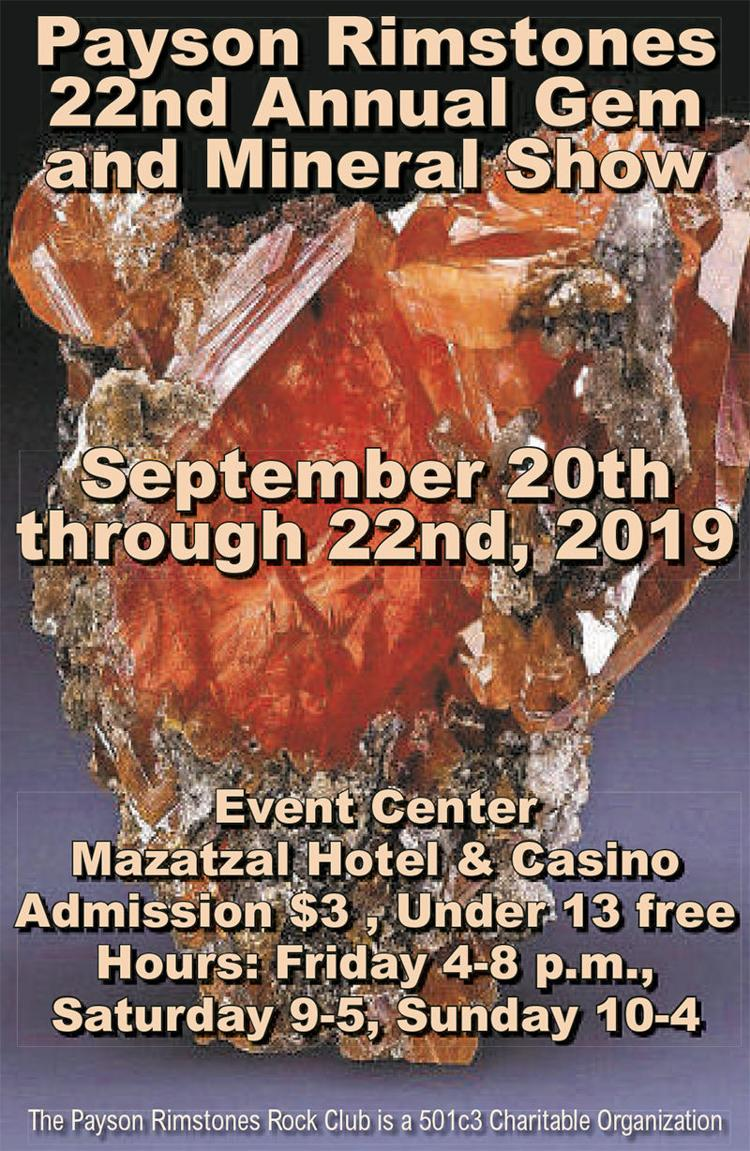 Payson Rimstones 22nd Annual Gem and Mineral Show