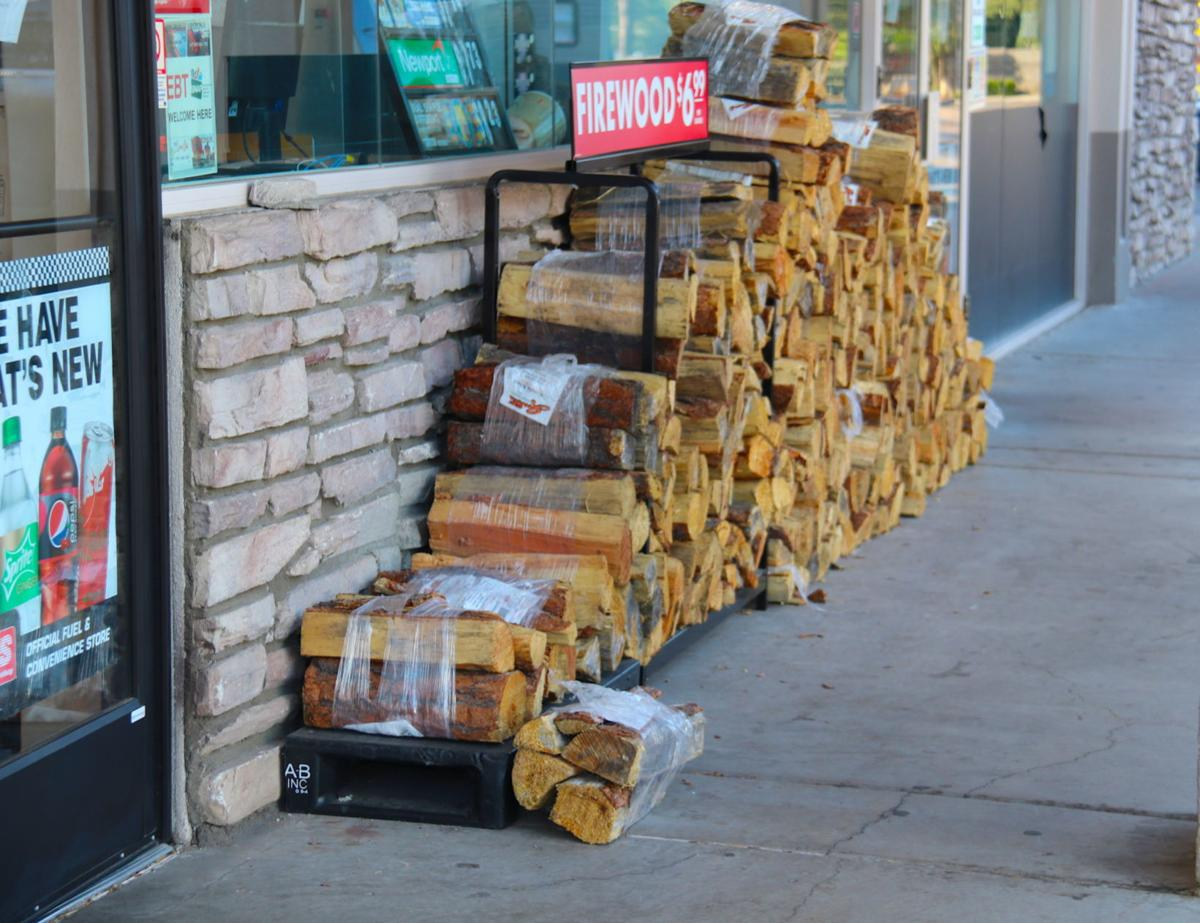 Firewood at gas station