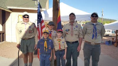 Boy Scouts in Pine