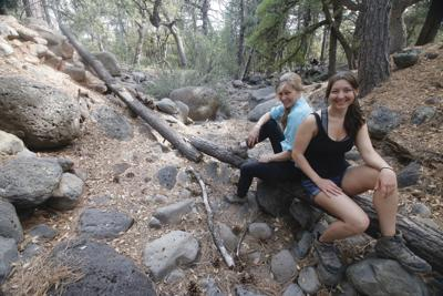 Michele and Brooke on AZT Highline