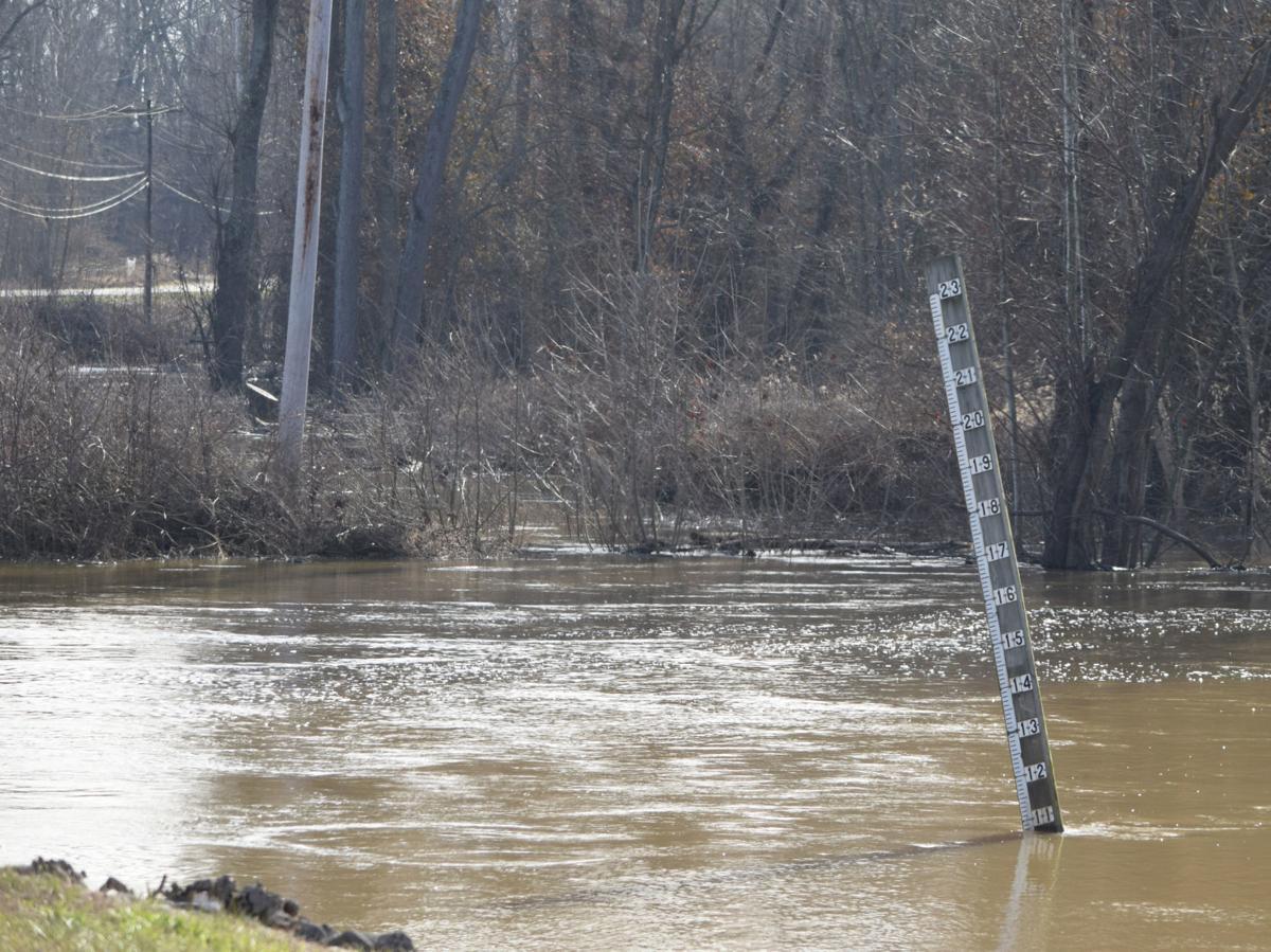 Patoka River rising