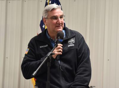 Holcomb visits county for Lincoln Day Dinner, talks campaigning during COVID