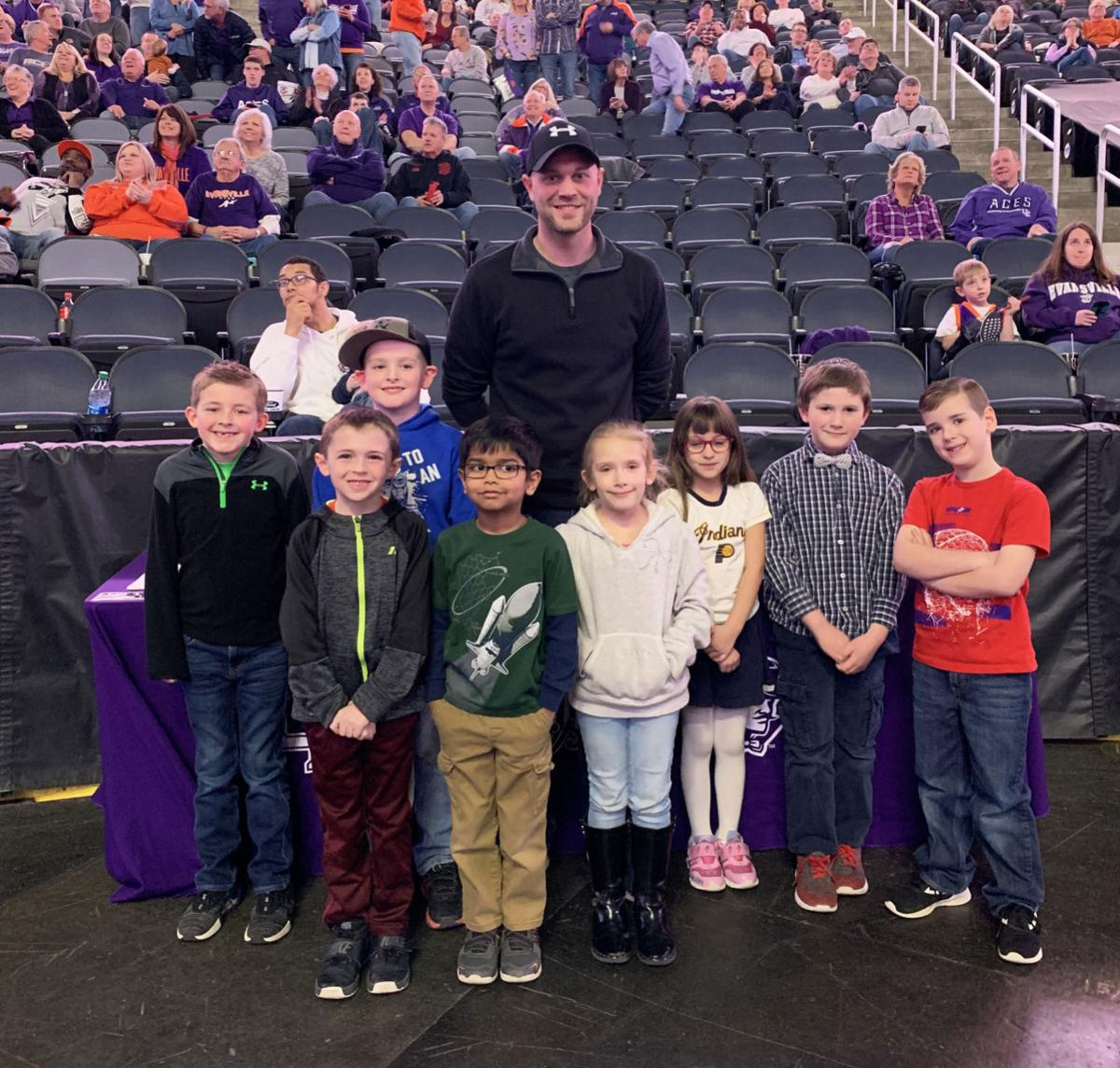 Ryan Sparrow and students