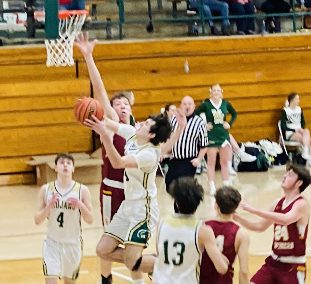 Coltin Page goes up for layup vs. Brindle