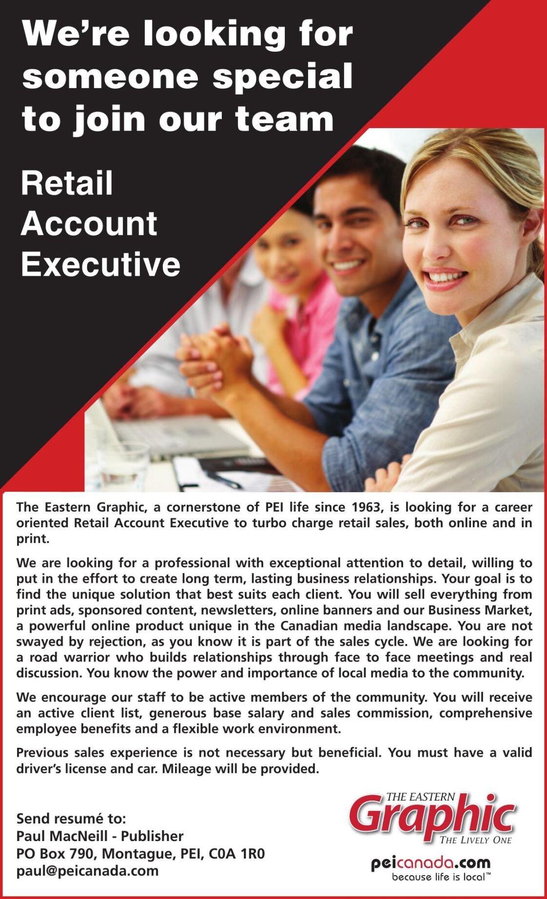 Retail Account Executive