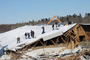 Mount Albion Farm Family Narrowly Escapes Collapsing Pig