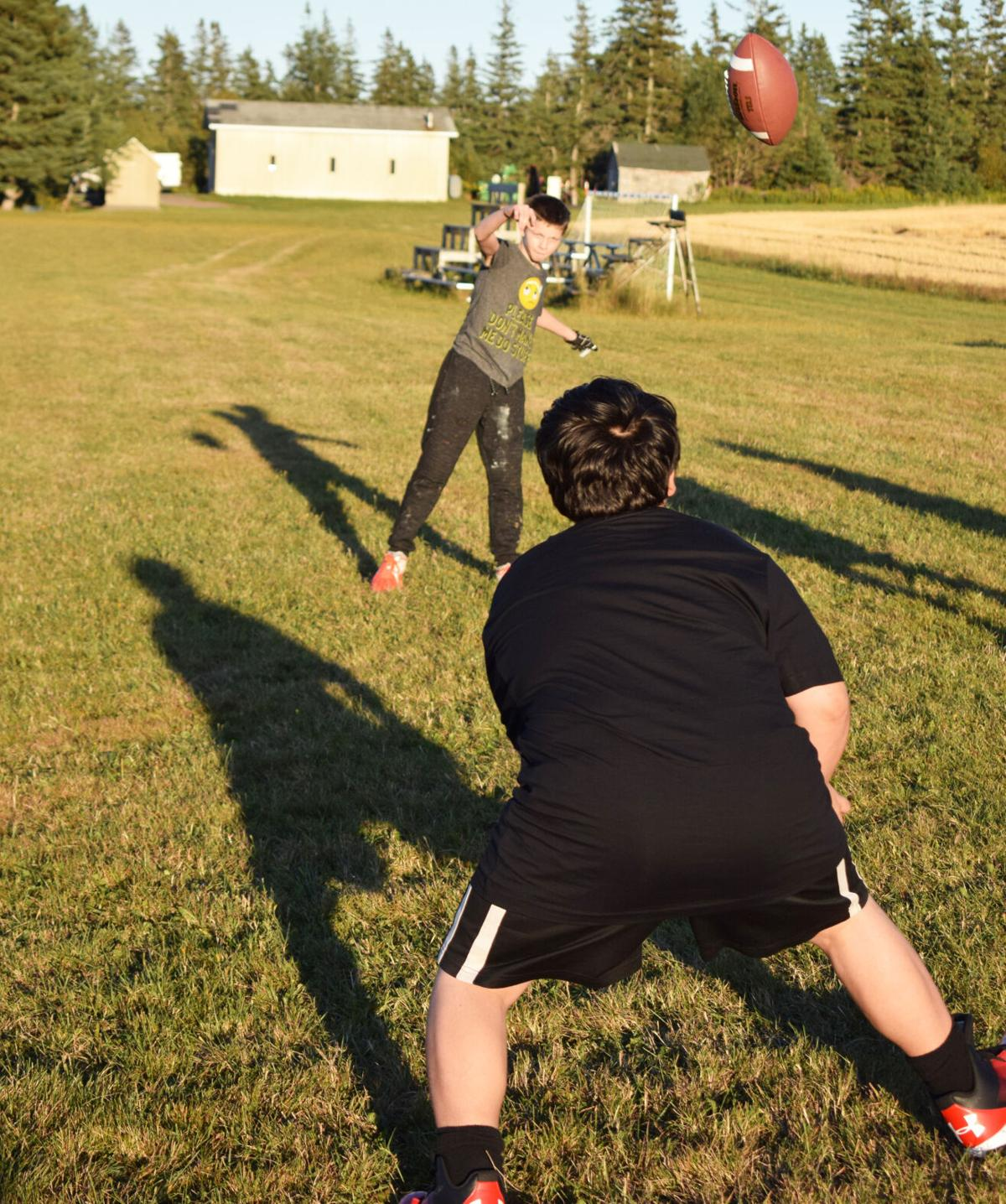 Tackle football practice