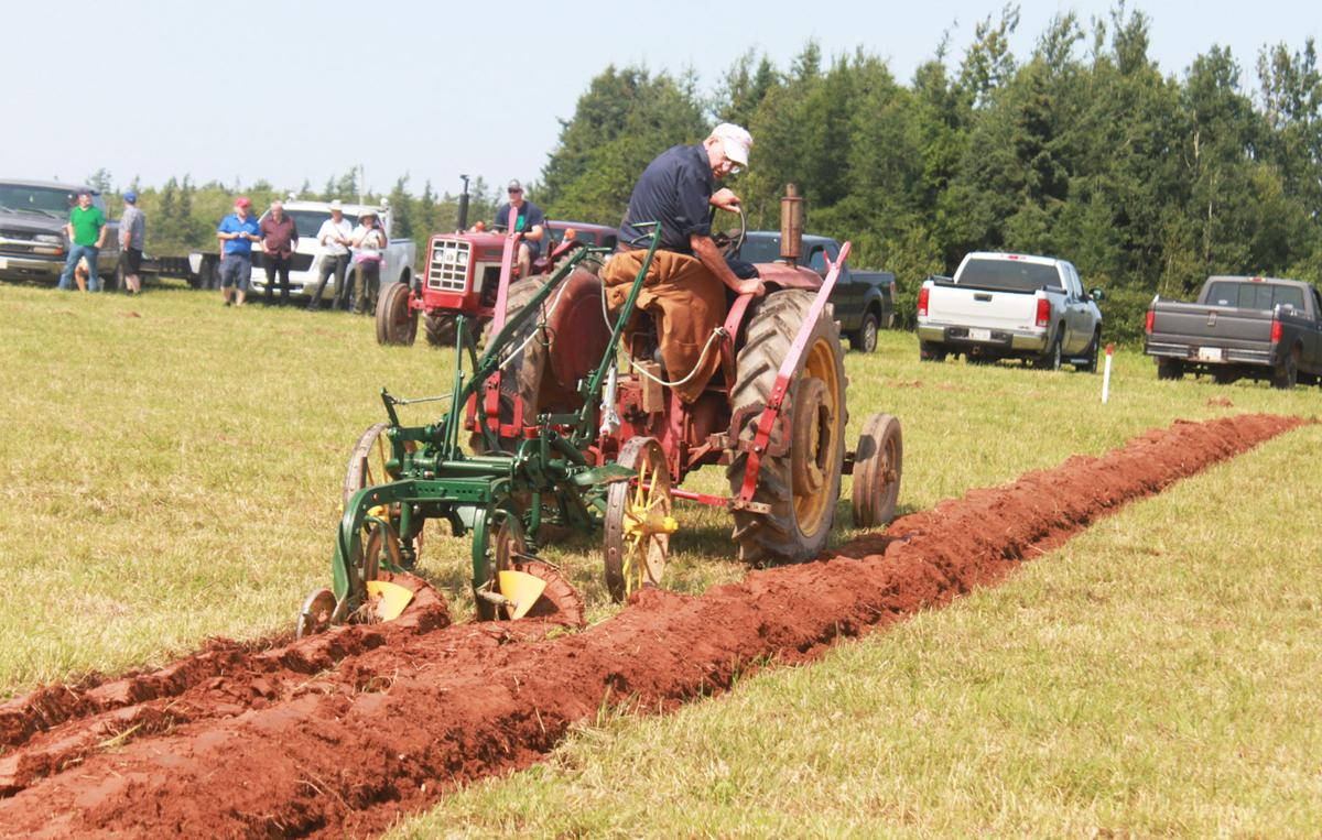 Plowing the rich red PEI soil