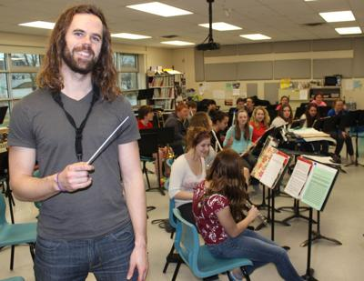 Jonathan MacInnis hits the right note with Montague band students