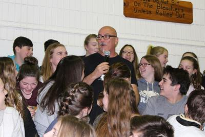 Motivational speaker gets interactive with students during
