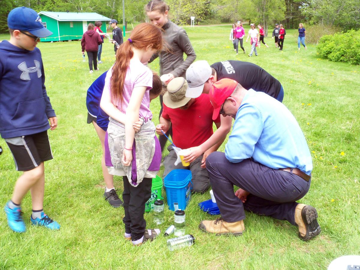 Fish release at Bloomfield Park