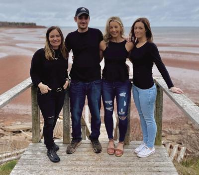 Tyson Curran and sisters