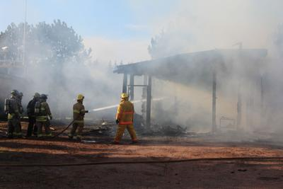 Work shed destroyed by fire in Cape Wolfe