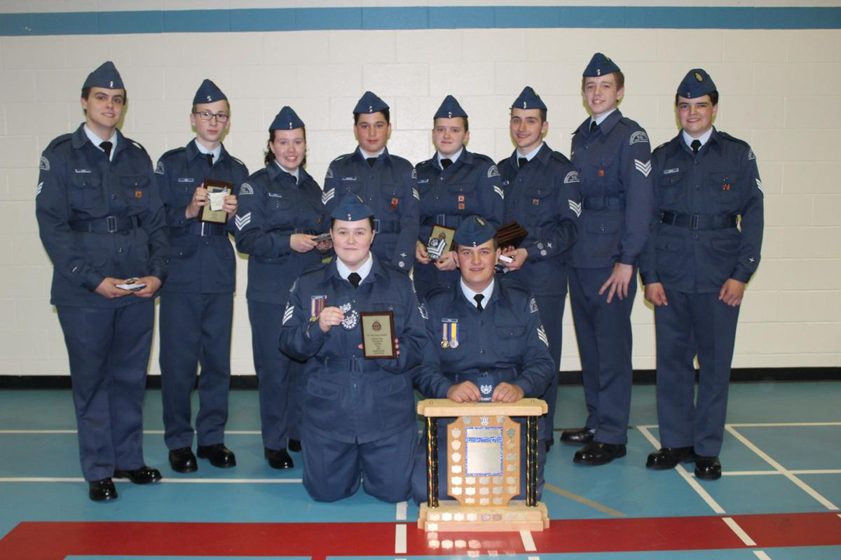 Retired local military personnel reviews West Prince Air Cadets
