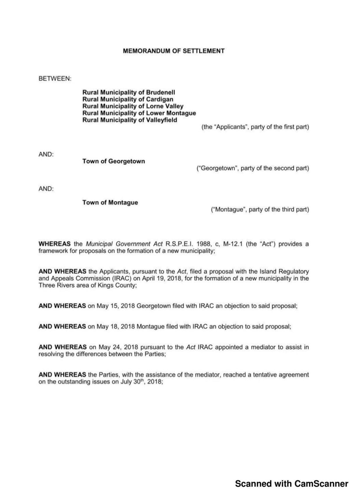 Click Here To See Memorandum Of Settlement Peicanada