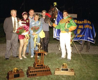 1997 Gold Cup winner's circle-Comedy Hour-Gilles Barrieau.
