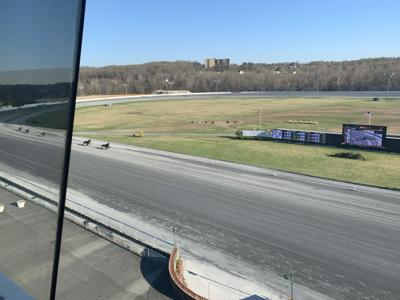 The view from announcers booth at Rosecroft.