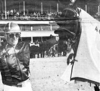 Flying Caper and Marcel Barrieau after winning 1979 Alexander Memorial at Saint John.