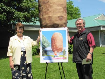 O'Leary's Big Potato stamps into history