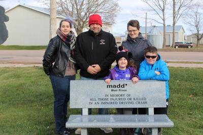 Memorial bench honours victims of impaired driving