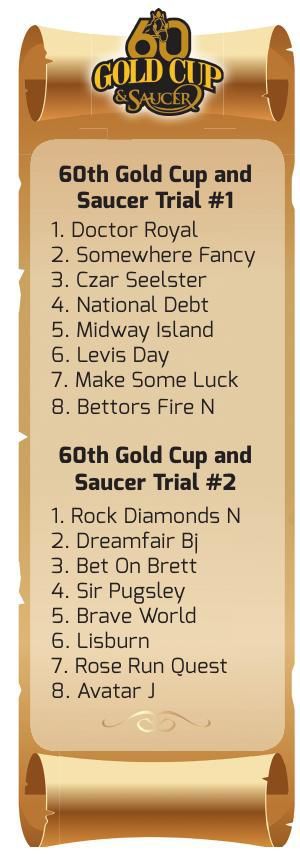 60th Gold Cup and Saucer Race Trials