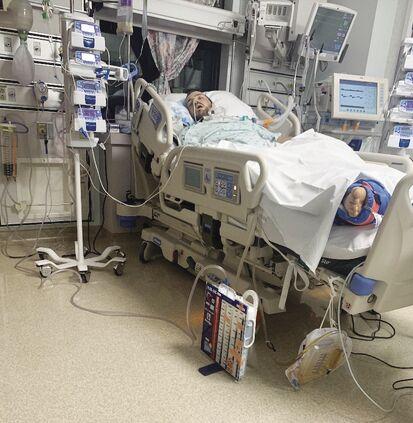 Tyson Curran in hospital