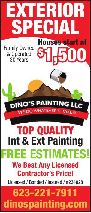 EXTERIOR SPECIAL DINO'S PAINTING LLC