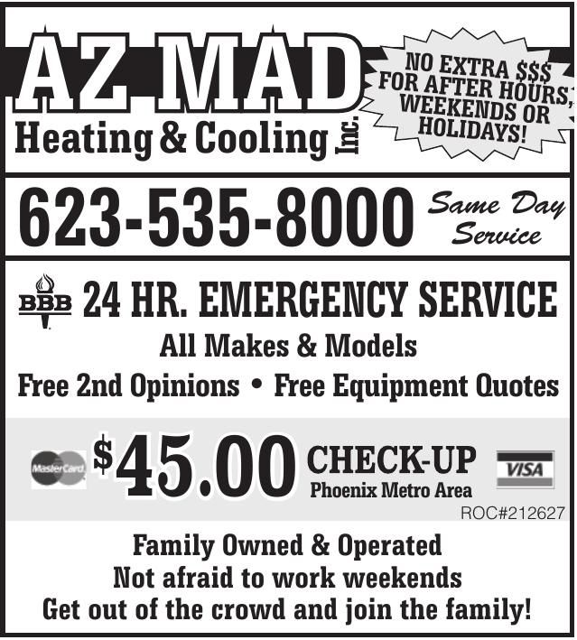 AZ MAD HEATING AND COOLING Inc.