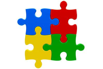 Autism Intellectual disabilities fundraiser Abstract puzzle background