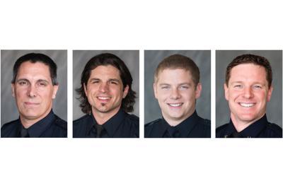 Peoria firefighters Matt Cottini, Justin Lopez, Jake Ciulla and Capt. Hunter Clare
