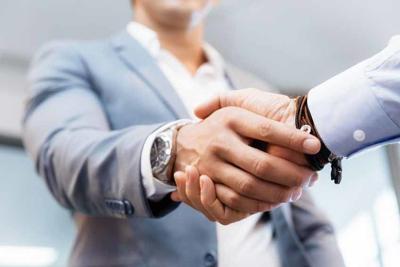 Handshake of businessmenoncepts - soft focus