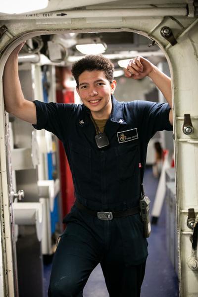 Peoria native serves aboard warship half a world away