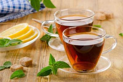 Glass Cups of tea