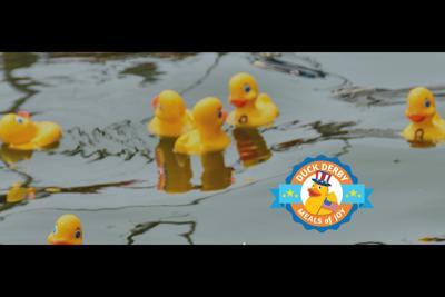 The Duck Derby rubber duck race