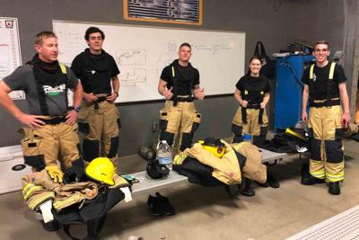 Citizens Academy students Fire Fighting