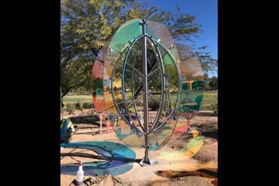 Gordon Huether's Barrel Cactus sculpture