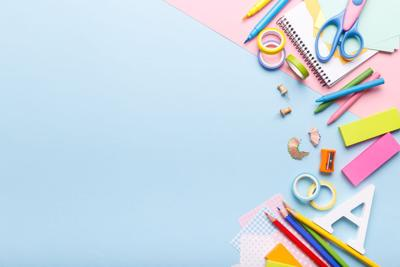 Colorful stationary supplies