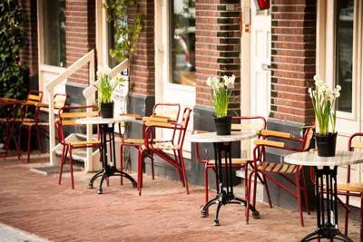 38076049 - outdoor cafe in amsterdam
