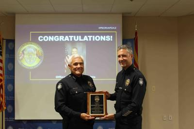Peoria Police Department Officer Brandon Knights Chief Arthur Miller