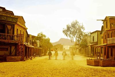 old west town in Fort Bravo/Texas Hollywood, in Spain