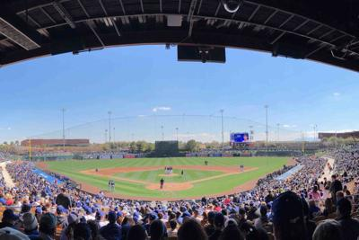 Spring Training action at the Peoria Sports Complex