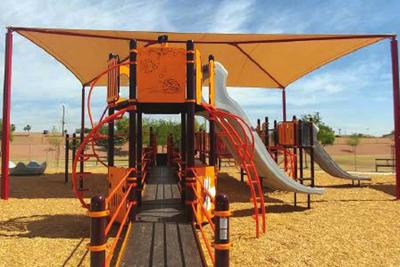 ADA-compliant playground equipment in city parks