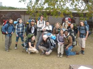 Hocking College students hit the trail