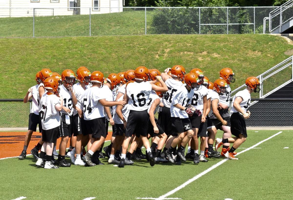 Panthers' huddle