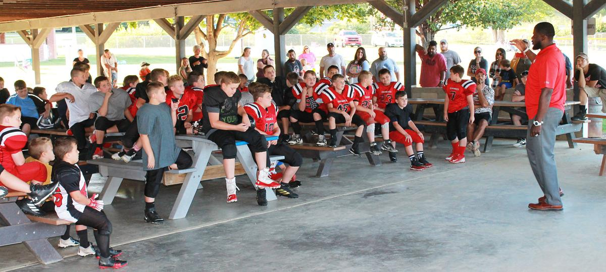 National Champion speaks to Biddy League