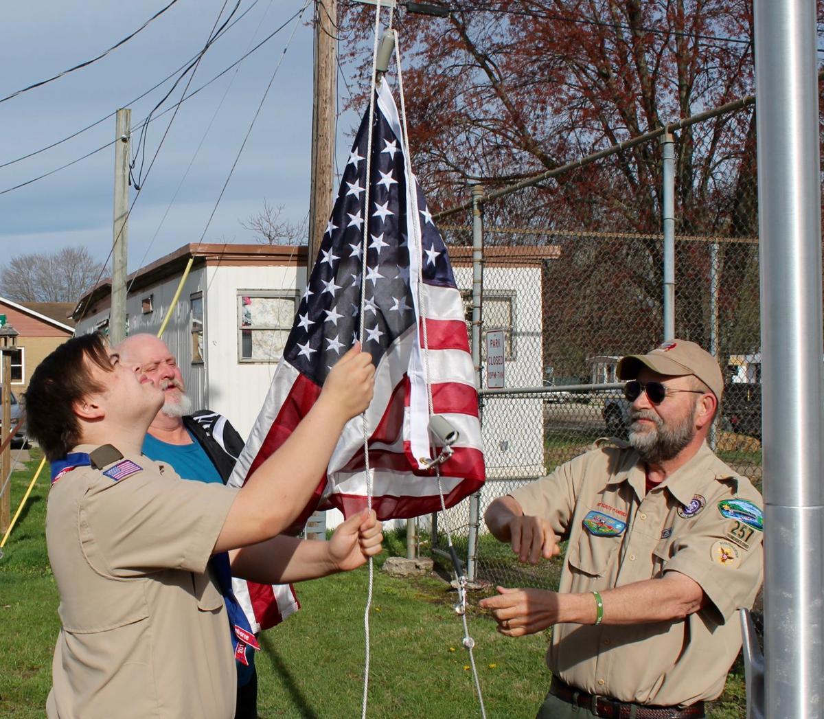 Eagle Scout creates new site for U.S. flag