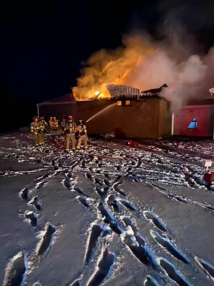 Fire roars through TC Woodworking