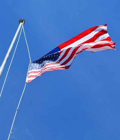 Old Glory flying high
