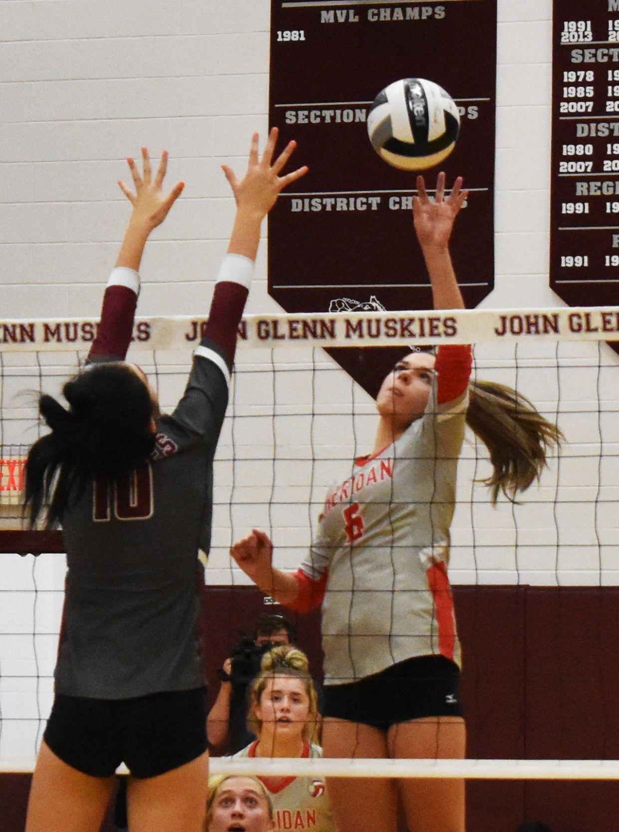 Sheridan vs John Glenn Volleyball